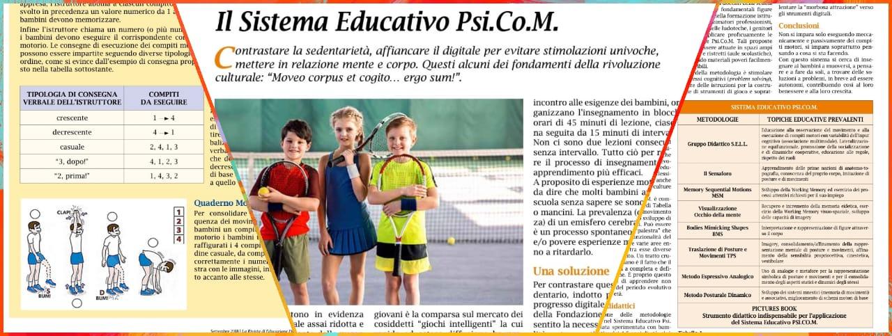Il PSICOM nella Rivista di Educazione Fisica, Scienze Motorie e Sport